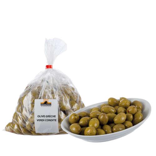 Olive greche verdi condite Pieragnoli