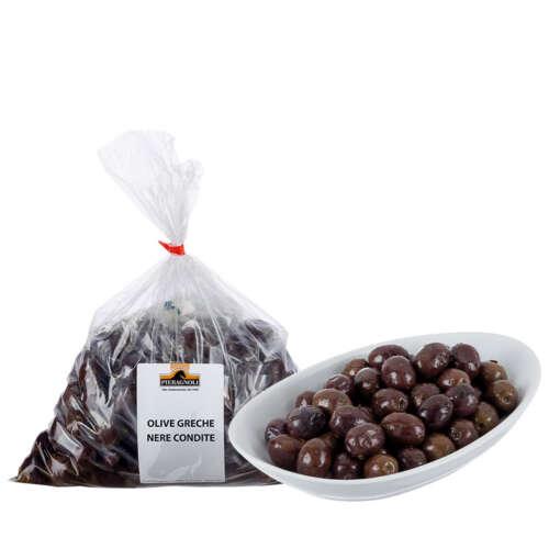 Olive greche nere condite Pieragnoli